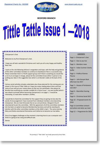 Tittle Tattle Newsletter